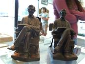 P. BENEDUCE Glass/Pottery 1921 ABRAHAM LINCOLN BOOK ENDS